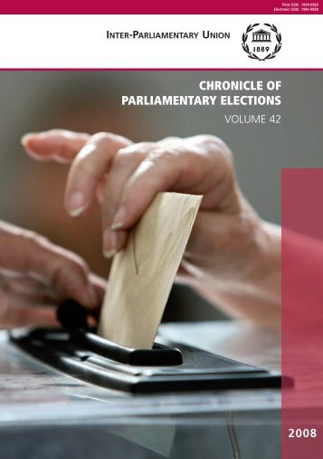 CHRONICLE OF PARLIAMENTARY ELECTIONS - Inter ...