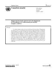 Rapport du Secrétaire géénéral de l'ONU sur le développement de ...