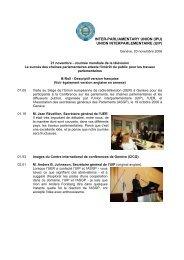 Pour voir citations et photos - Inter-Parliamentary Union