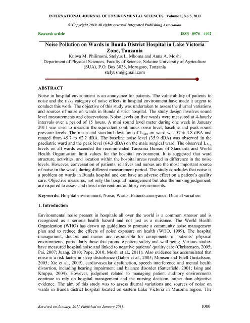 noise pollution research paper