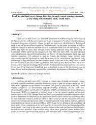 Land use and land cover change detection through remote sensing ...