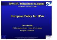 European Policy for IPv6