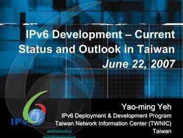 IPv6 Steering Committee - IPv6 Forum Taiwan