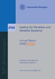 20 Anniversary - Institut für Parallele und Verteilte Systeme ...