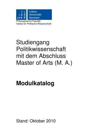 Modulkatalog - Institut für Politische Wissenschaft - Leibniz ...