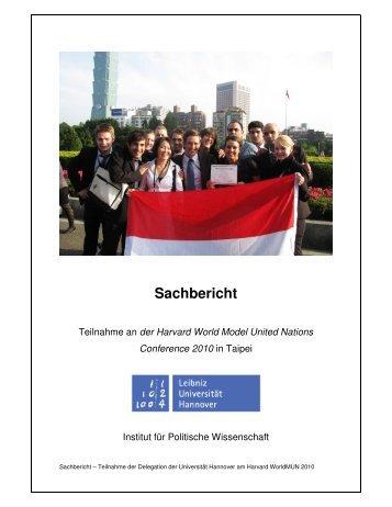 Sachbericht - Institut für Politische Wissenschaft - Leibniz Universität ...