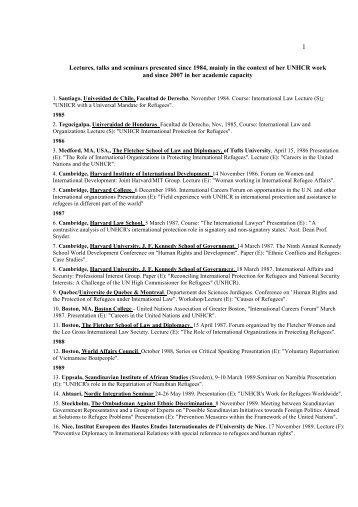 Vorlesungen, Vorträge und Seminare