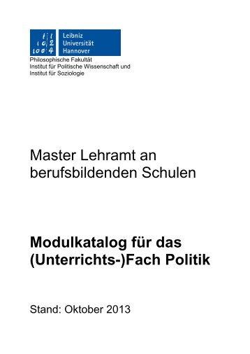 (Unterrichts-)Fach Politik - Institut für Politische Wissenschaft