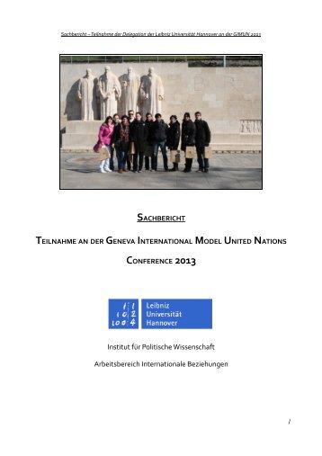 Institut für Politische Wissenschaft Arbeitsbereich Internationale ...