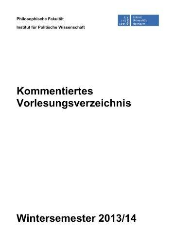 Politik - Institut für Politische Wissenschaft - Leibniz Universität ...