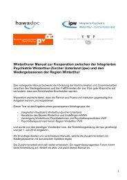 Manual - Integrierte Psychiatrie Winterthur - Zürcher Unterland
