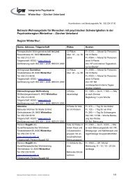 Zürcher Unterland - Integrierte Psychiatrie Winterthur - Zürcher ...