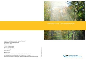 PDF, 380 kB - Integrierte Psychiatrie Winterthur - Zürcher Unterland