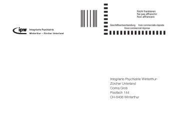 Anmeldung (PDF, 80 kB) - Integrierte Psychiatrie Winterthur ...
