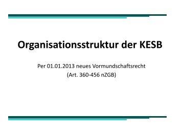 Organisationsstruktur der KESB - Kanton Zürich