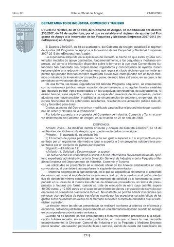 decreto 78/2008 - Boletín Oficial de Aragón - Gobierno de Aragón