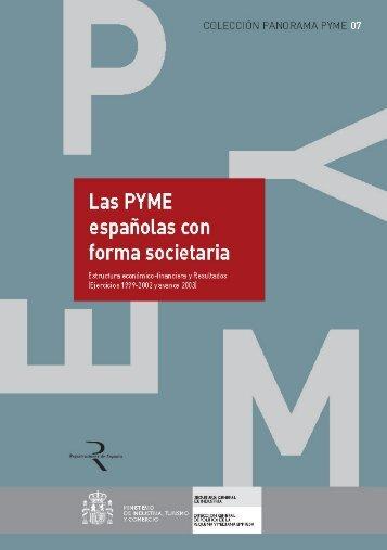 Estructura económico-financiera. Las PYME españolas con forma ...