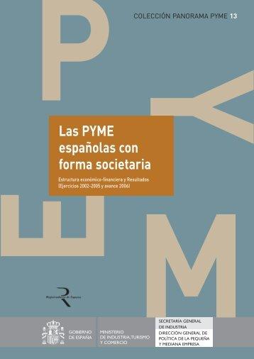 Las PYME españolas con forma societaria - Dirección General de ...