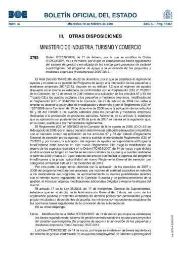 Orden ITC/318/2009 - BOE.es