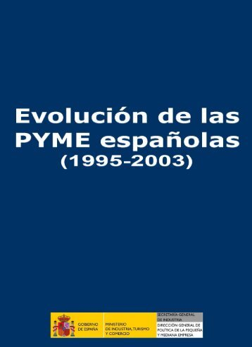 Evolución de las PYME españolas 1995-2003 - Dirección General ...