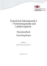 Französisch Sekundarstufe I – Normierungsstudie und ... - IQB