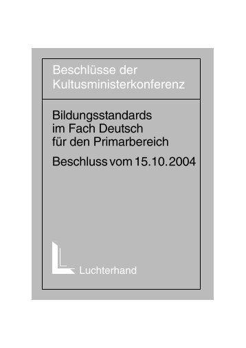 Bildungsstandards im Fach Deutsch für den Primarbereich ...