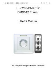 LT-3200-DMX512 DMX512 Dimmer User's Manual - IQmarket
