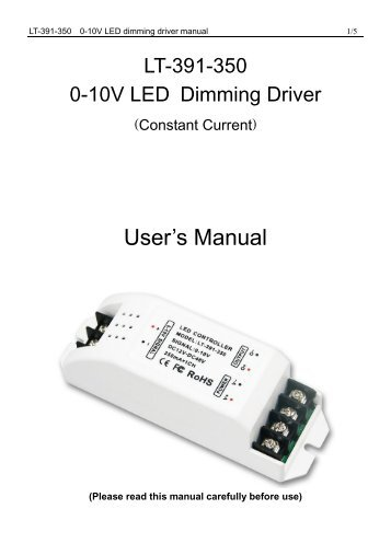 LT-393-5A 0-10V LED Dimming Driver (Constant Voltage