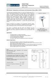 Screw-In/Immersion Temperature Sensor KNX-Sensor ... - IQmarket