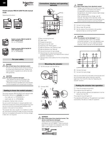 For your safety Getting to know the switch actuator ... - IQmarket