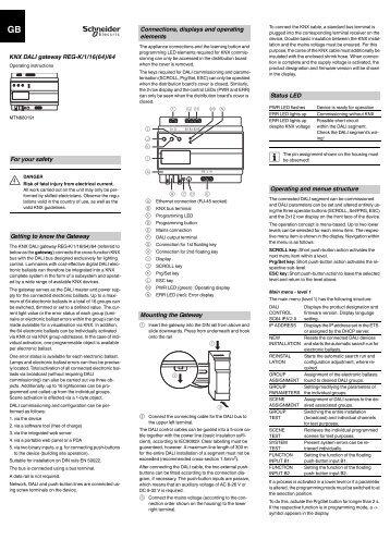 KNX DALI gateway REG-K/1/16(64)/64 For your safety ... - IQmarket