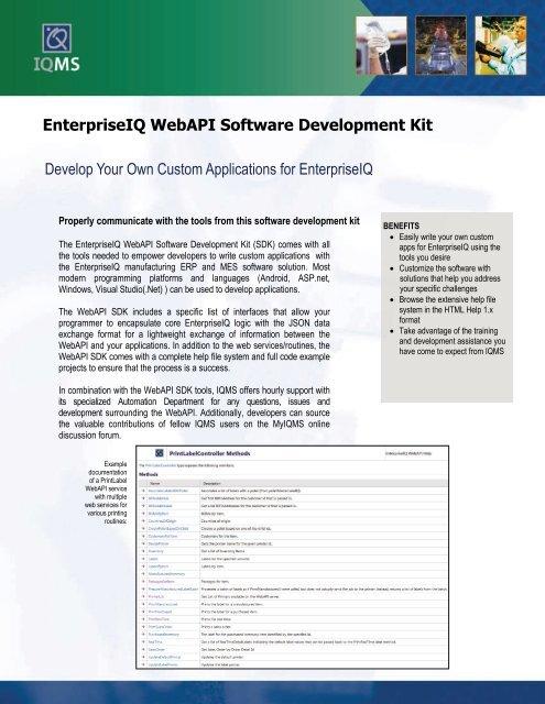 Web API - IQMS