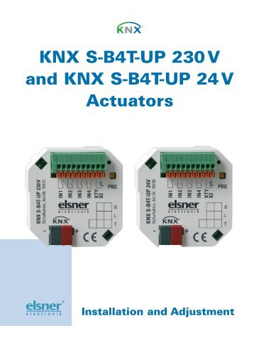 Structure of Actuator KNX S-B4T-UP 230 V AC - IQmarket