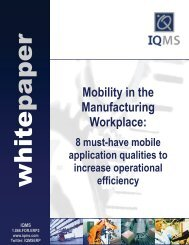 Mobility in the Manufacturing Workplace: - mediadroit