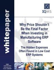 Hidden ERP Expenses - IQMS