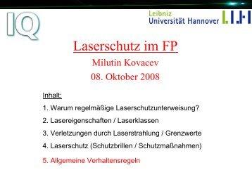 Lasersicherheit im FP