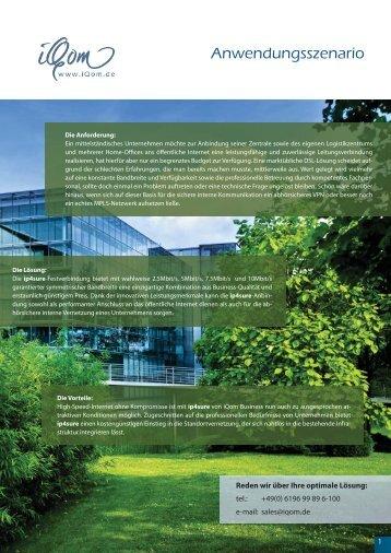 Anwendungsszenario - iQom Business Services GmbH