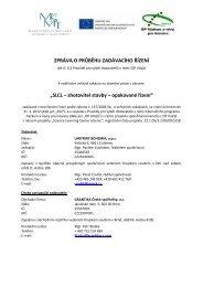 Zpráva o průběhu zadávacího řízení - Pravidla OP ... - IQ Park