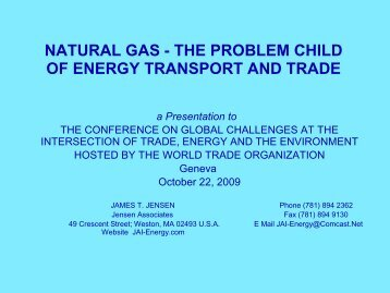 natural gas - the problem child of energy transport and ... - IQPC.com