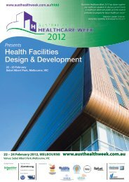 Health Facilities Design & Development - IQPC.com