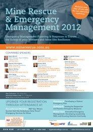 Mine Rescue & Emergency Management 2012 - IQPC.com
