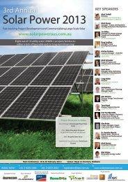 Solar Power 2013 - IQPC.com