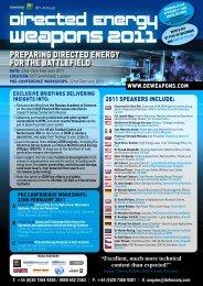 Weapons 2011 - IQPC.com