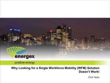 Why Looking for a Single Workforce Mobility (WFM ... - IQPC.com