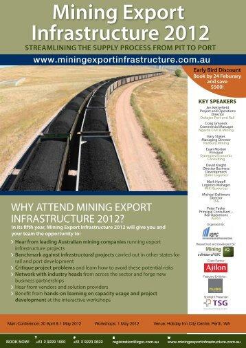 Mining Export Infrastructure 2012 - IQPC.com