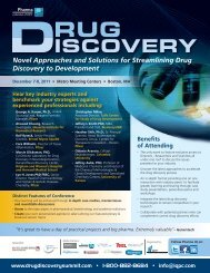 Novel Approaches and Solutions for Streamlining Drug ... - IQPC.com