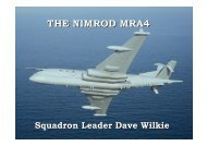 THE NIMROD MRA4 - Squadron Leader Dave Wilkie, FHQ - IQPC.com