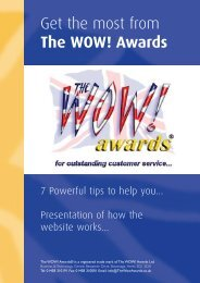 Get the most from The WOW! Awards - IQPC.com