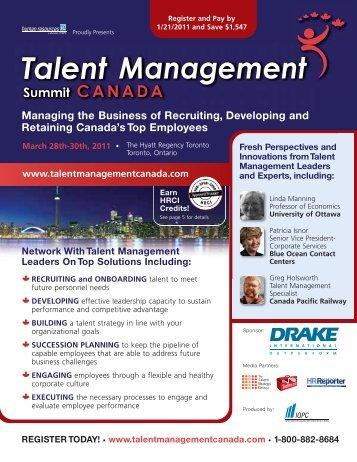 IQPC-NY Talent Management CAN 17.0:Talent - IQPC.com