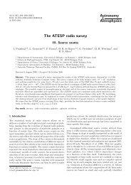 The ATESP radio survey. III